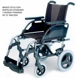 Breezy style / Silla de ruedas de aluminio con ruedas pequeñas
