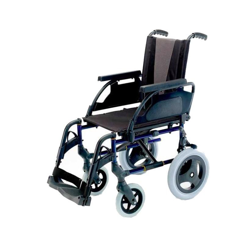 Breezy premium / Silla de ruedas de acero con ruedas pequeñas ortoeco